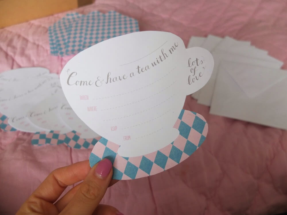 My Handmade Afternoon Tea Party Invitations Where S Mollie