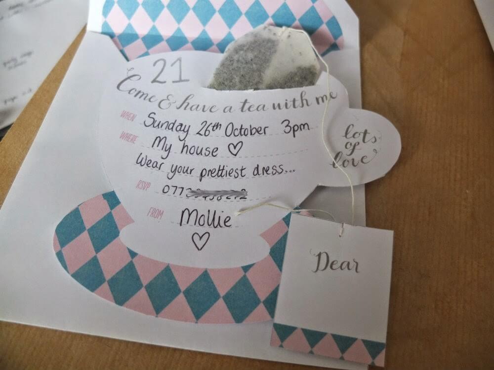 my handmade afternoon tea party invitations  u2661