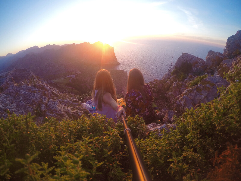 The most perfect sunset in Mallorca