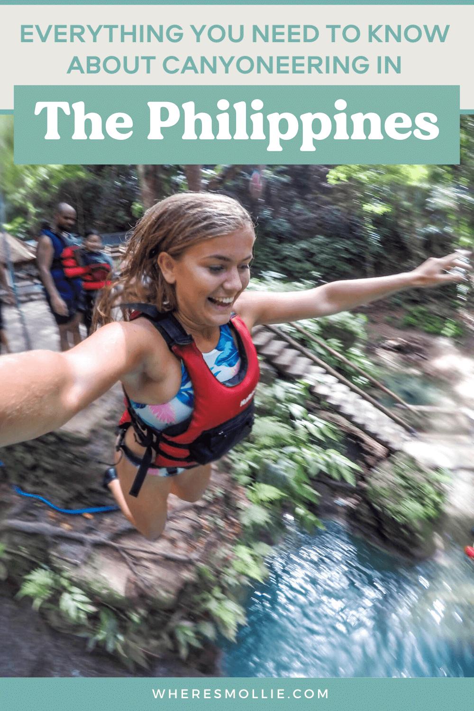 Canyoneering in Badian, Cebu, the Philippines
