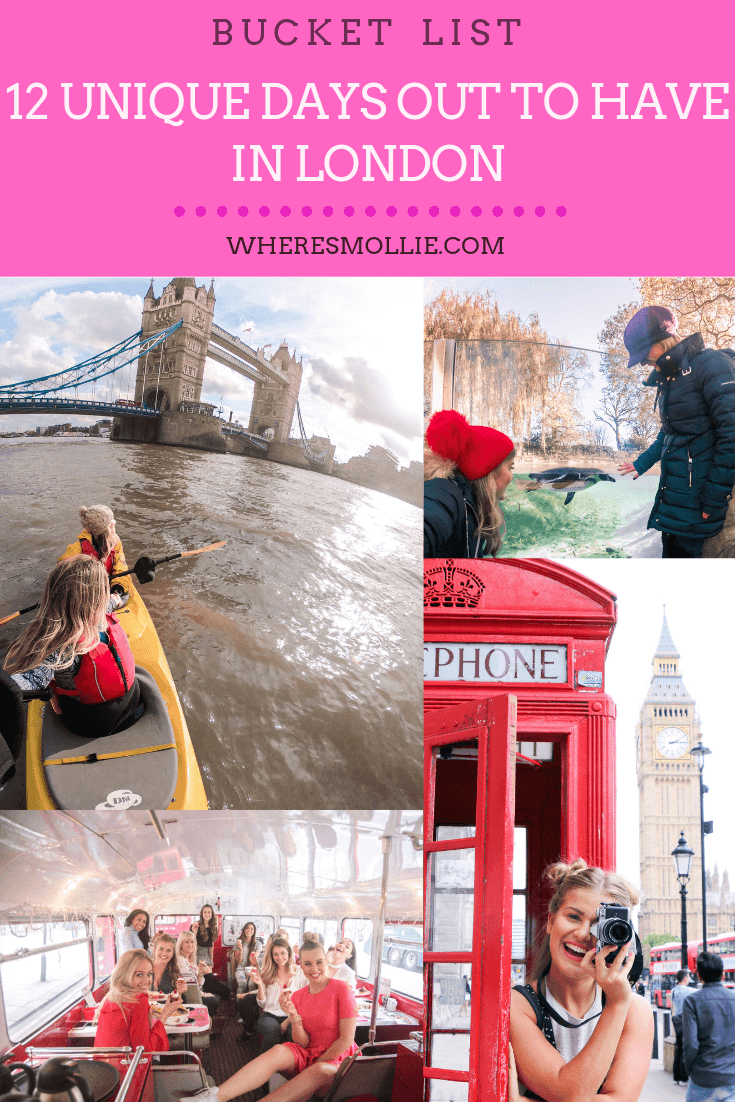 12 unique days out to have in London