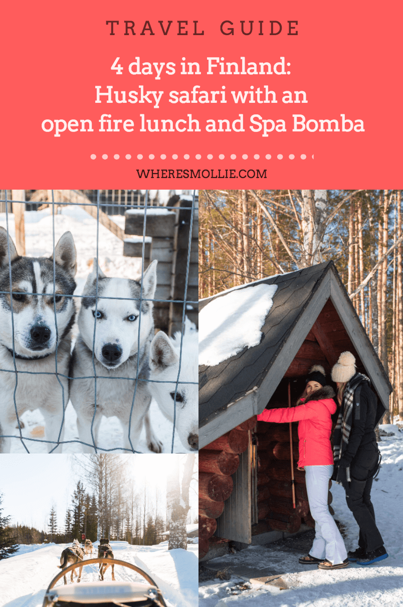 4 days in Finland: Husky safari with an open fire lunch and Spa Bomba