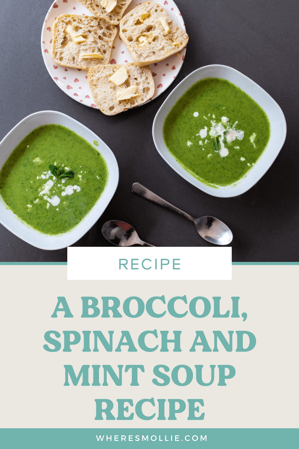 Recipe: Broccoli, spinach and mint soup