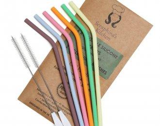 Silicone reusable straws