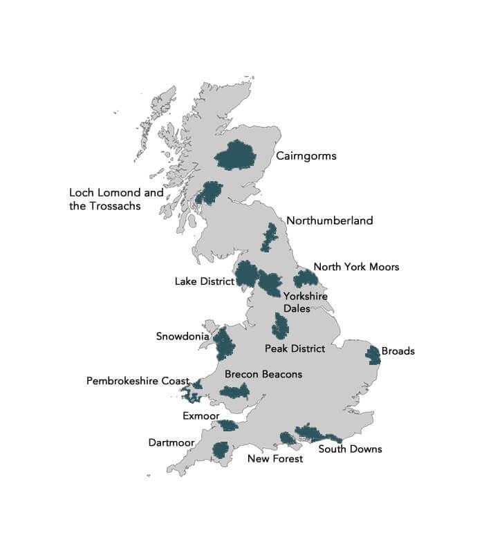 The 15 UK National Parks on a map: Which should you visit?