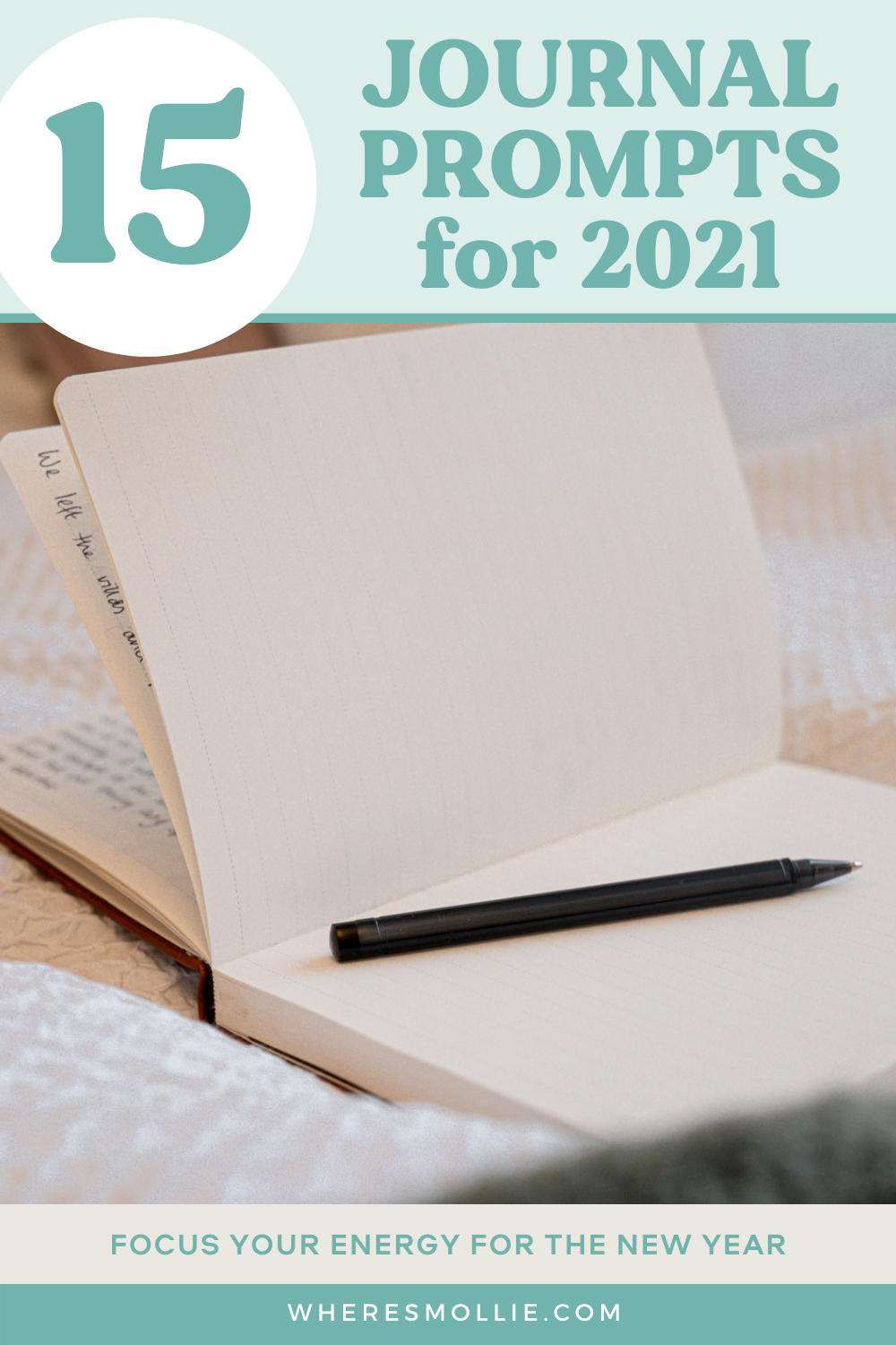 15 New Year journal prompts for 2021