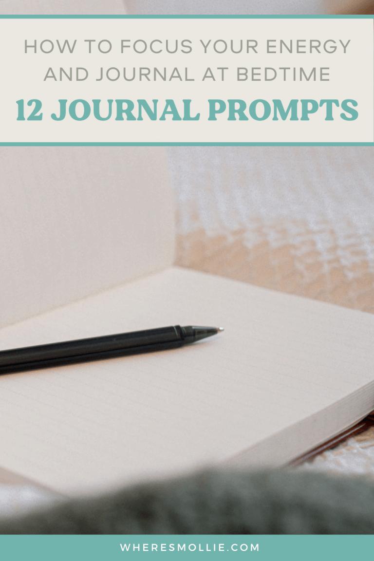 12 bedtime journal prompts