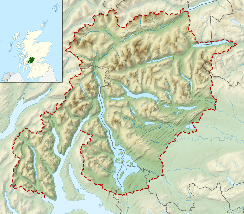 The best things to do in Loch Lomond and the Trossachs National Park Map