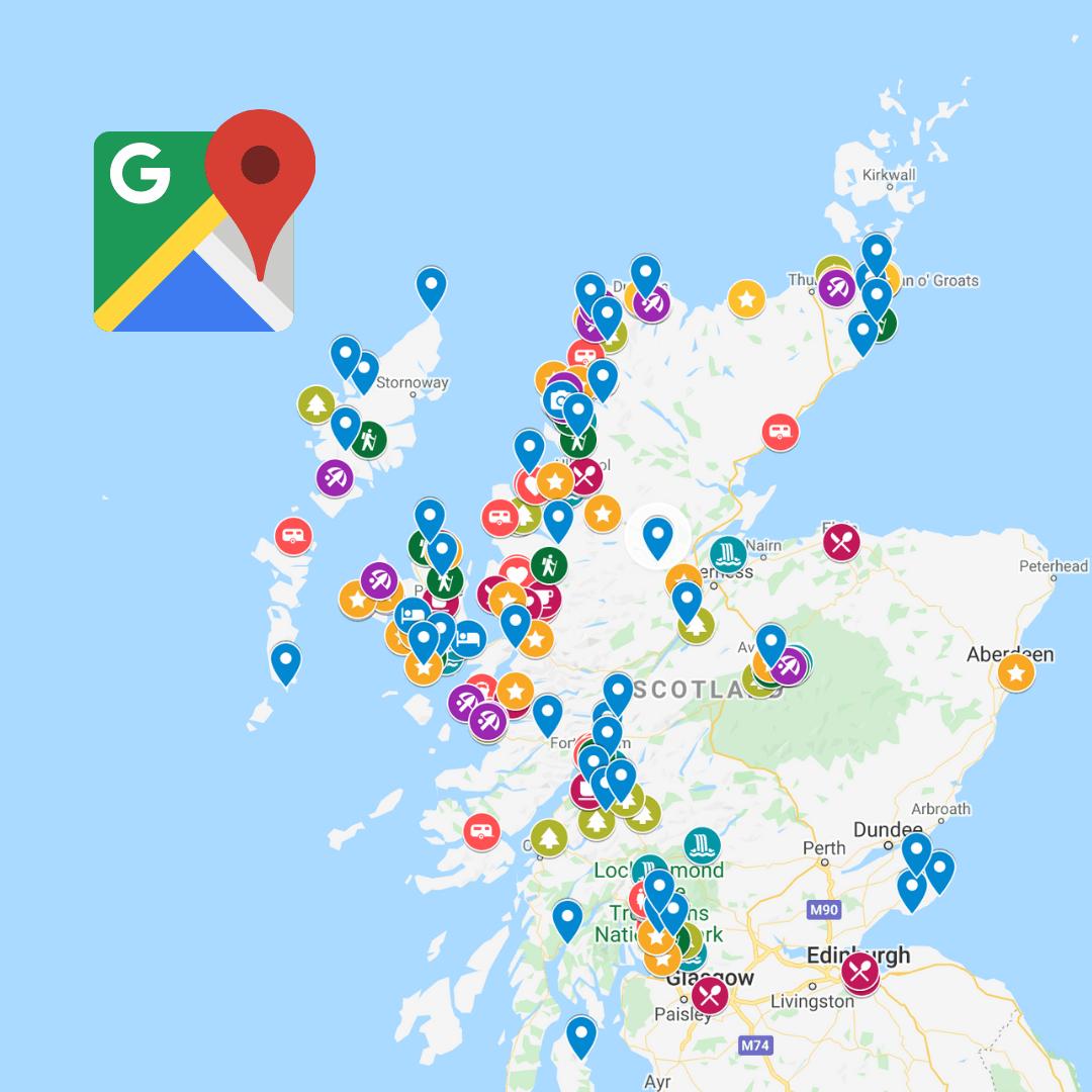Scotland GOOGLE MAP LEGEND
